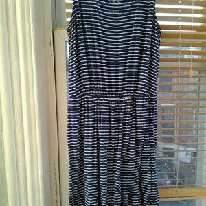 Merona Sleeveless Striped dress XL
